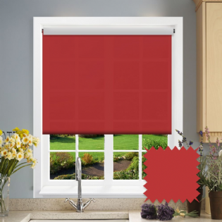 Red Roller Blind - Astral Scarlett